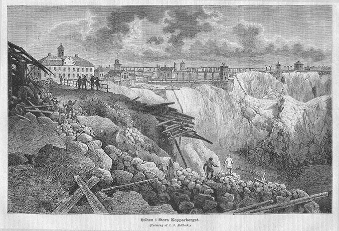 Koppargruvan i Falun var ett riksintresse redan i tidig medeltid. Vid mitten av 1600-talet stod gruvan för två tredjedelar av kopparproduktionen i världen.