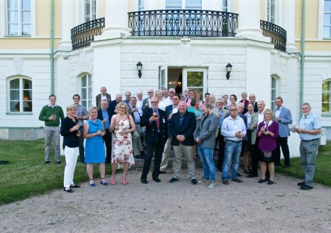 Avslutning på Lettlandsresan 2015 vid  Mežotne slott.