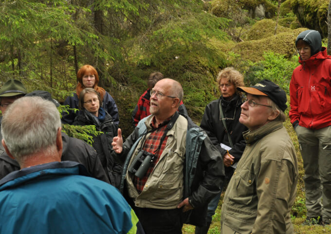Exkursion om skogsbete i Jumkil med Urban Emanuelsson 2012.