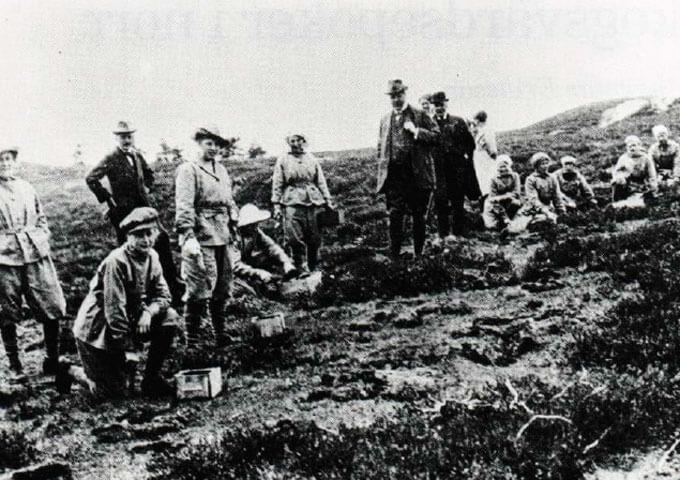 Plantering på Vråskogen år 1918.