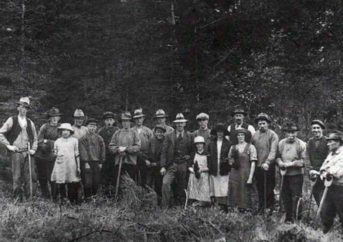 Planteringslag på Halle-Hunneberg 1920-talet.