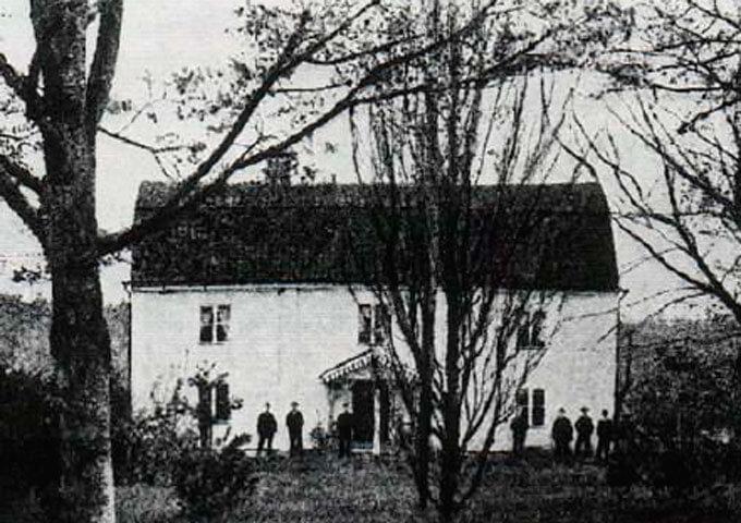 Mangårdsbyggnaden på Skogshall omkring 1914.