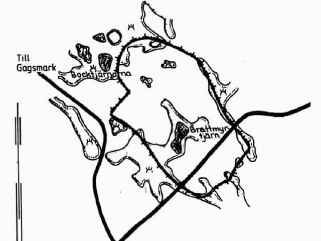 Karta över naturreservatet Degerfors.