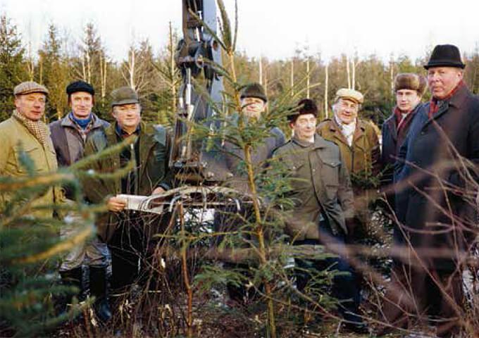 Skogstjänstemän från Lettland på besök i Norrköping 1989.