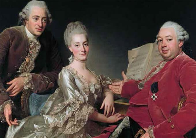 John Jennings till höger, ägare av bland annat Robertsfors bruk. Målning av Alexander Roslin.