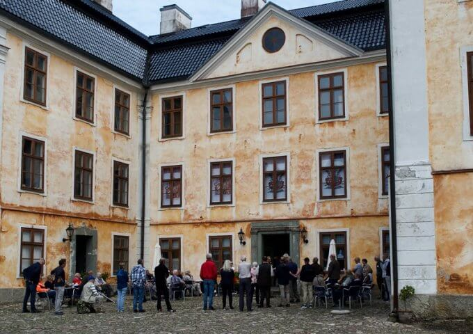 Christinehofs slott och alunbruket i Andrarum. 2019.