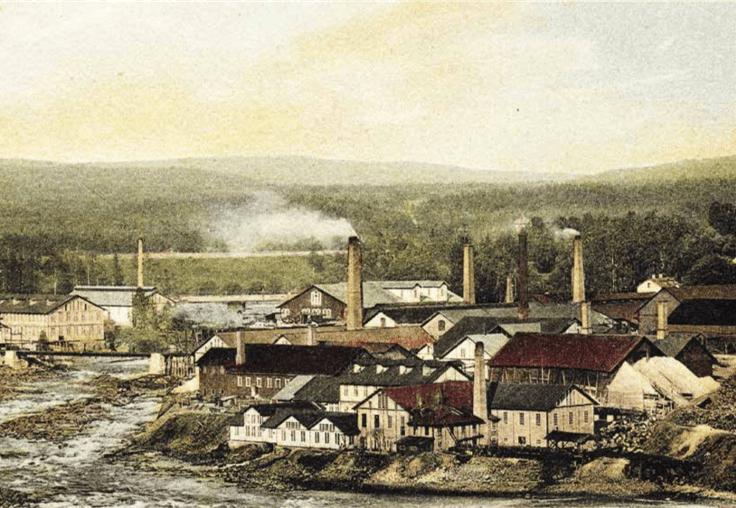 Munkfors bruk vid början av 1900-talet